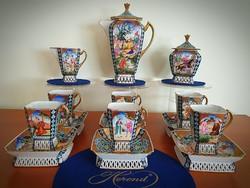 Komplett 6 személyes makulátlan Herendi Perzsa kávés készlet