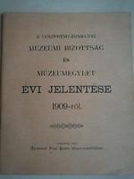 Veszprémvármegyei Múzeumi Bizottság Jelentése 1909-ből