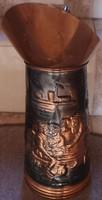 Flamand jelenetes boros kancsó, kiöntő