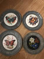 4 db on kis tányér ritka mintával gyűjtői darabok