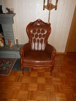 Chippendél bőr fotel