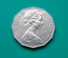 Ausztrália 50 cent, 1969  - II. Erzsébet királynő