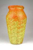 1D247 Narancssárga iparművészeti kerámia váza 26 cm
