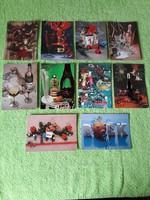 Új évi használt képeslapok