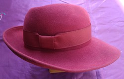 Retro női kalap - bordó
