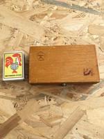 Orosz CCCP jelzett hézag vastagság mérő - hézagoló - eredeti fa dobozában - finom szerszám órás
