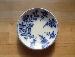 Régi Schlaggenwald hagymamintás vastag porcelán alátét tálka 13 cm