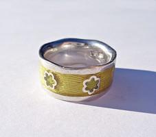 Tűzzománcos, mintás 925-ös gyűrű