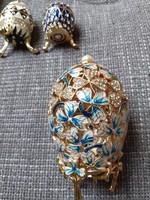 Fabergé tojás hatalmas!! klasszikus előkelő ír motívummal kristállyal