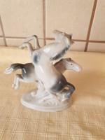 0D381 Jelzett BOCK-WALLENDORF porcelán ló szobor