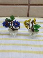 Miniatűr gyöngy virág, dísztárgy 2 db eladó!