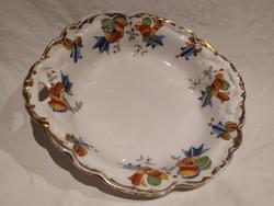 Antik Erdmann Schlegelmilch festett porcelán kínáló tál tálka