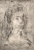 Borsos Miklós - 19 x 13 cm-es korai rézkarca