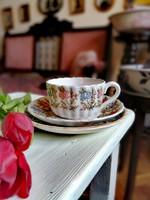 Sarreguemines csésze szett, reggelizőszett