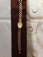Eredeti Helvetia, quartz, acél, aranyozott női karóra, aranyozott szíjjal, működik