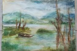 M.Náray Zsuzsanna akvarell képe