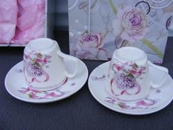 Szecessziós stílusú Csészepár porcelán