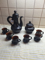 Retro fekete kerámia teáskészlet eladó!