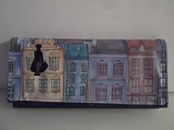 Pénztárca - MARY POPPINS - NAGY - Olasz - bőr - SARKAI KOPOTTAK - 20 x 9,5 cm