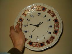 zsolnay porcelán óra új sosem használt gyönyörű darab bolt polcáról kis takarítás ráfér KIÁRUSÍTÁS