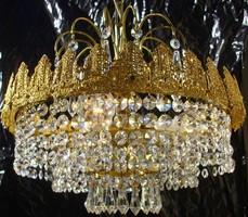 Korona díszes kristálycsillár kosár kristály csillár