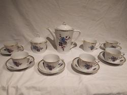 Gyönyörű hollóházi porcelán kávés készlet