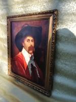 Spanyol nemesi portré 19 sz.