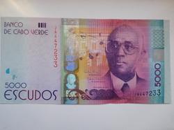 Zöld foki szigetek 5000 escudos 2014 UNC A Legnagyobb címlet!