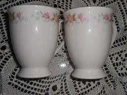 Porcelán forrócsokis csésze pár.
