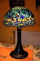 Tiffany lámpa nehéz talppal, hatalmas 68 cm