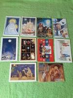 Karácsonyi postatiszta szétnyitható képeslapok