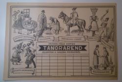 Pataki féle tanórarend 1930