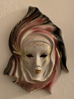 4 darab szépen festett karneváli maszk
