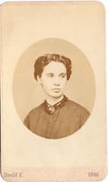 Andreánszky Laura (1833-1917) Divald fotó 1868
