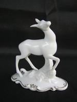 Royal Dux porcelán őz vidám kis ugrándozó őzike