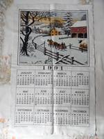 Textil naptár ( 1991 év )