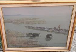 Csáki-Maronyák József – Csendes Balaton című festménye – 67.