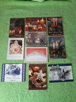 Karácsonyi postatiszta képeslapok