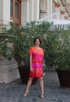 Kézzel festett valódi hernyóselyem ruha