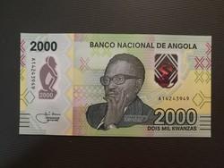 Angola 2000 kwanza 2020 UNC Polmer A legnagyobb címlet!