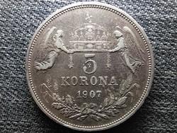 Ferenc József (1848-1916) .900 ezüst 5 Korona 1907 KB (id46201)
