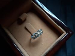 Alexandrit-gyémánttal arany gyűrű.Új! Igazolással