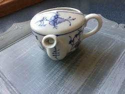 Csőrös egyfüles kézzel festett csésze hagymamintás