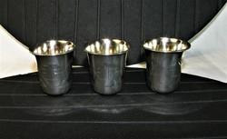 Antik ezüst pohár 3 darab