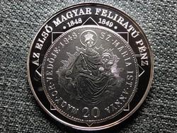 A magyar nemzet pénzérméi Az első magyar feliratú pénz 1848-1849 .999 ezüst PP (id46260)