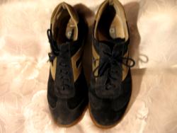 Beresjanosnak Vera Gomma fekete olasz bőr férfi sport cipő 42