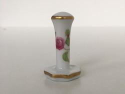 Herendi porcelán rózsás pecsétnyomó cigaretta nyomó