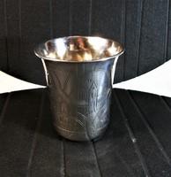 Antik Orosz 875-ös ezüst pohár Moszkva 1891