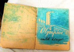 OLIMPIAI AUTOGRAM FÜZET HELSINKI 1952 ( KELETI ÁGNES, PAPP LÁSZLÓ...)