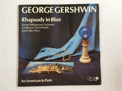 George Gershwin: Kék rapszódia / Egy amerikai Párizsban bakelit lemez, vinyl, LP 1975.